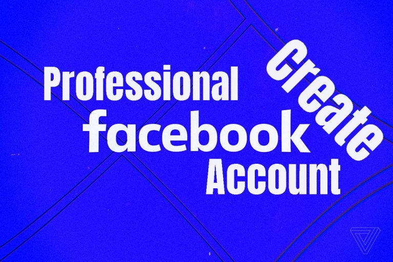create a professional Facebook account