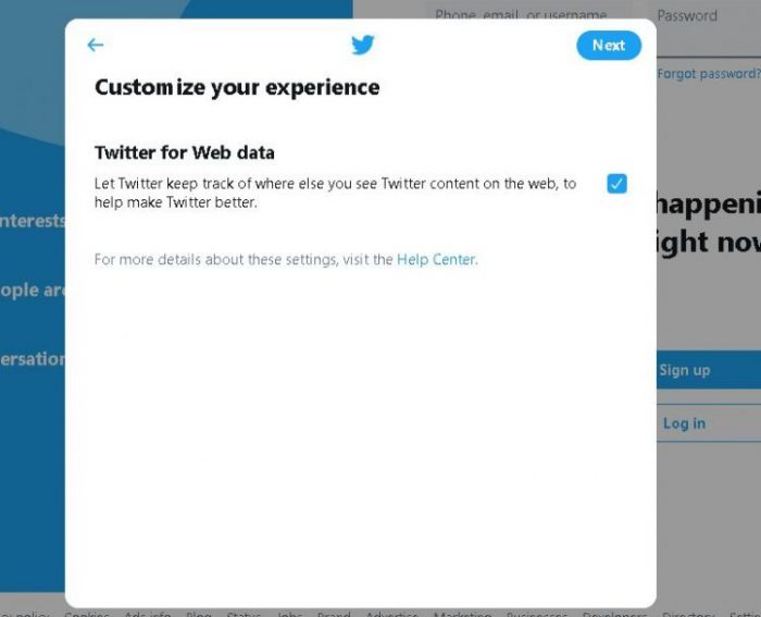 customize our experience on twitter