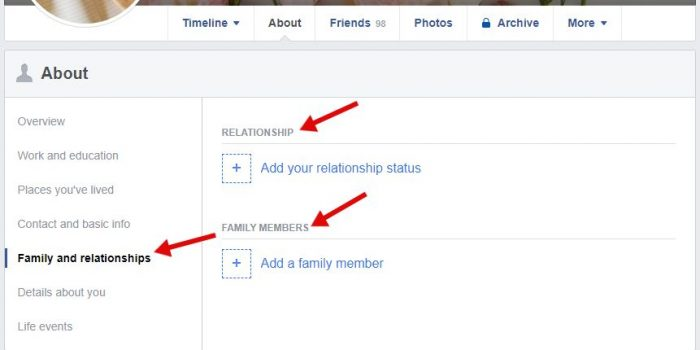 family and relationship status