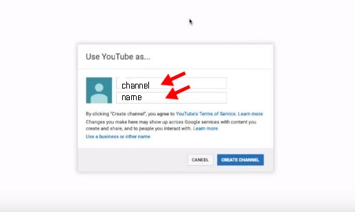 youtube channel name
